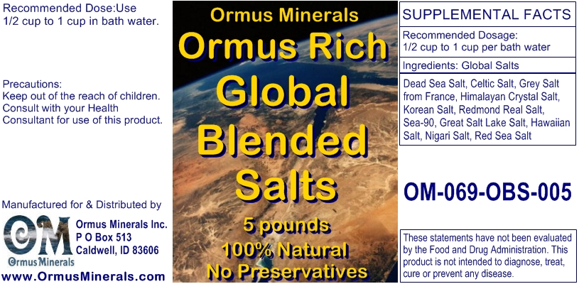 Ormus Rich Blended Salts
